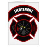Maltese Cross - Lieutenant (black helmet) Greeting Card