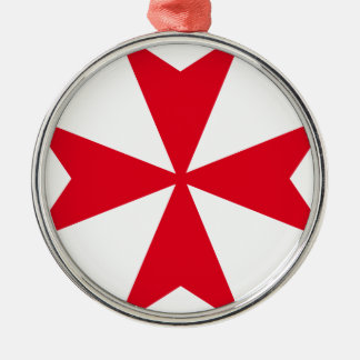 maltese cross metal ornament