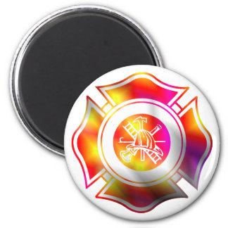 Maltese Cross Multi Color firefighter magnet
