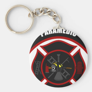 Maltese Cross - Paramedic Basic Round Button Keychain