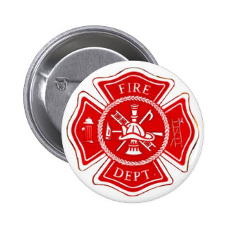 MALTESE CROSS PINBACK BUTTON