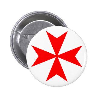 Maltese Cross Pinback Button