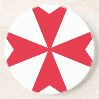 maltese cross sandstone coaster