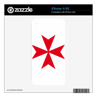 maltese cross decal for iPhone 4S