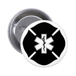 Maltese Cross & Star of Life Pinback Button