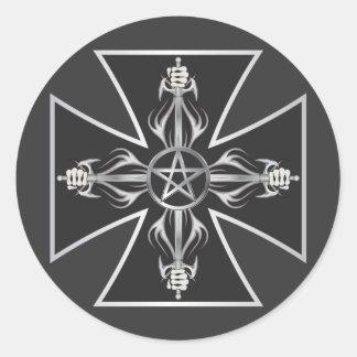 Maltese Cross Sticker