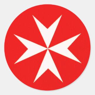 Maltese Cross Stickers