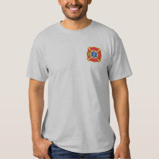 Maltese Cross with staff Embroidered T-Shirt