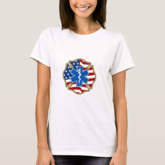 Maltese Cross with Star of Life T-Shirt