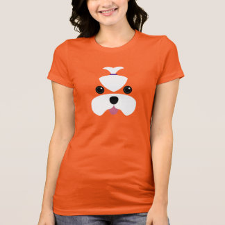 Maltese cutesy face round eyes T-Shirt
