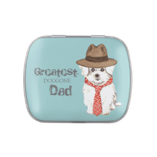 Maltese Dad Jelly Belly Tins