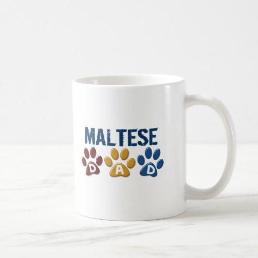 MALTESE Dad Paw Print 1 Classic White Coffee Mug