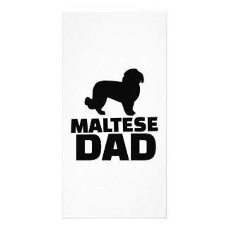 Maltese Dad Personalized Photo Card