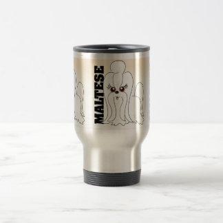 Maltese Dog Art Travel Mug