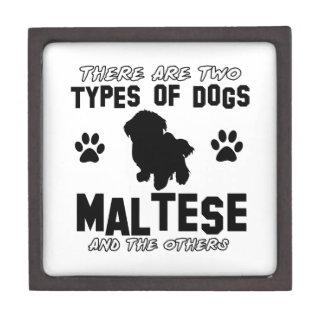 Maltese dog breed designs premium gift box