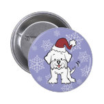 Maltese Dog Buttons