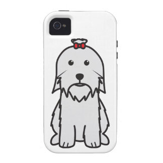Maltese Dog Cartoon iPhone 4 Case