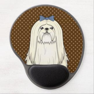 Maltese Dog Cartoon Paws Gel Mouse Pad