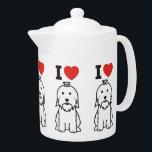 "Maltese Dog Cartoon Teapot<br><div class=""desc"">Maltese. Design by DogBreedCartoon</div>"