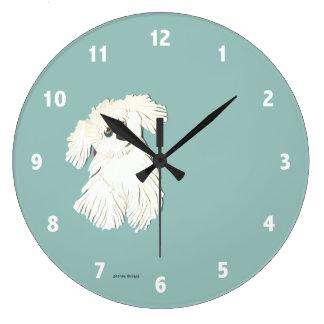 Maltese Dog Clock