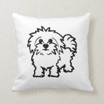 Maltese Dog cushion - White