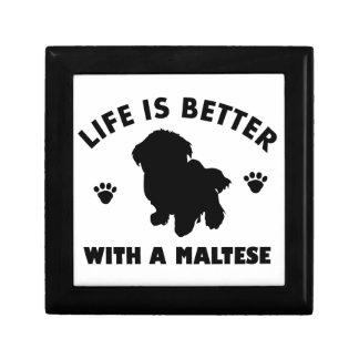 Maltese dog design gift box