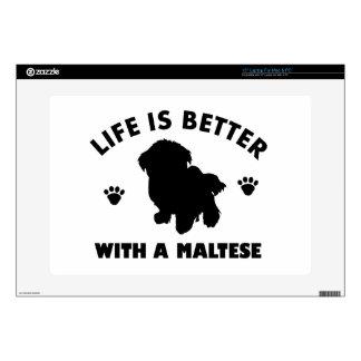 Maltese dog design laptop decals