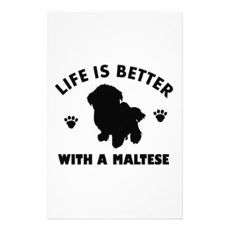 Maltese dog design stationery