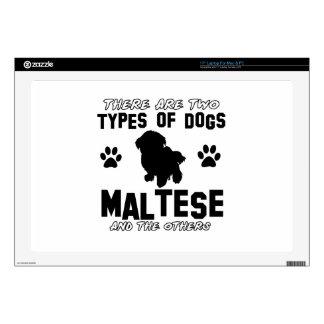 "Maltese dog Designs 17"" Laptop Skins"