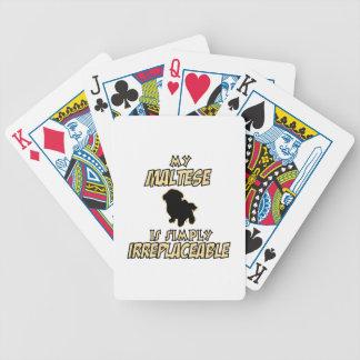 maltese DOG designs Bicycle Playing Cards
