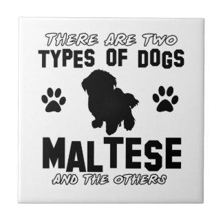 Maltese dog Designs Tile