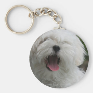 Maltese Dog Keychain