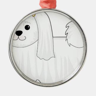 Maltese Dog Metal Ornament
