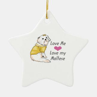 MALTESE DOG CHRISTMAS TREE ORNAMENTS