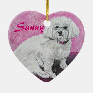 Maltese Dog Ornament - Customizable