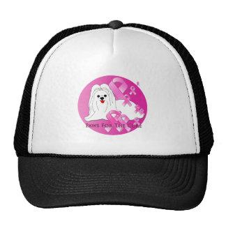 Maltese Dog Pink Ribbon Trucker Hat