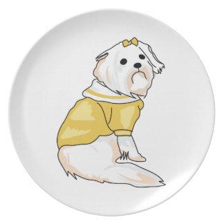 MALTESE DOG PLATES