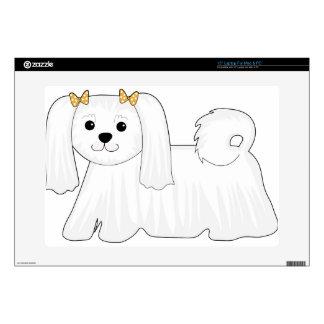 Maltese Dog Decals For Laptops