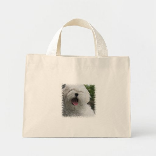 Maltese Dog Tiny Tote Bag