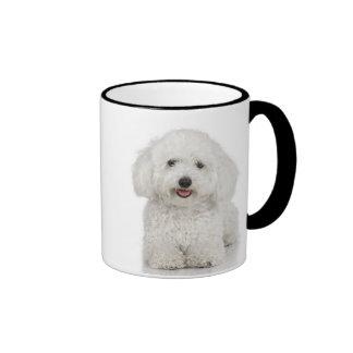 Maltese Dog White Ringer Coffee Mug