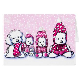 Maltese Dog Winter Whimsy Cards
