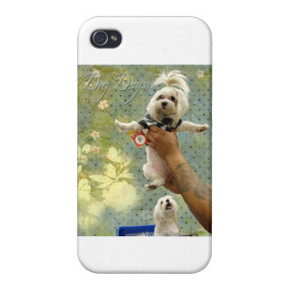 Maltese Dogs Shopping For Dresses iPhone 4 Cover