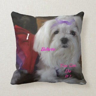 Maltese Dressed-Up Pillow