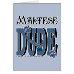 Maltese DUDE Greeting Card