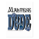 Maltese DUDE Postcard