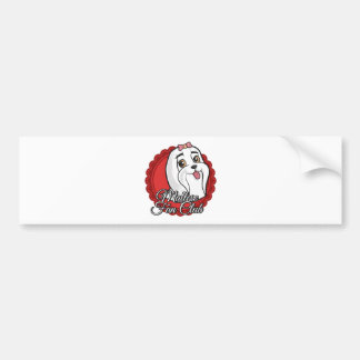 Maltese Fan Club Bumper Sticker