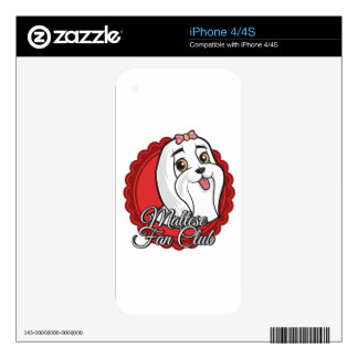 Maltese Fan Club Skin For The iPhone 4S