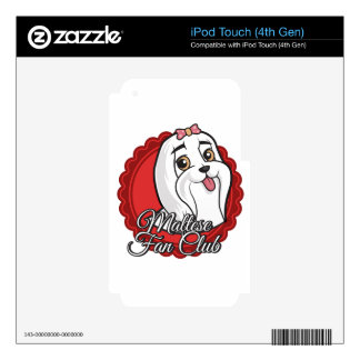 Maltese Fan Club Skins For iPod Touch 4G