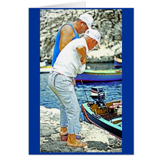 Maltese Fishermen (1) Greeting Card