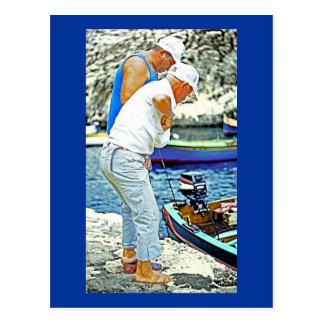 Maltese Fishermen (1) Postcard